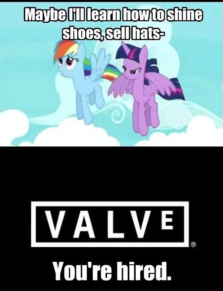 valve,gabe newell,rainbow dash