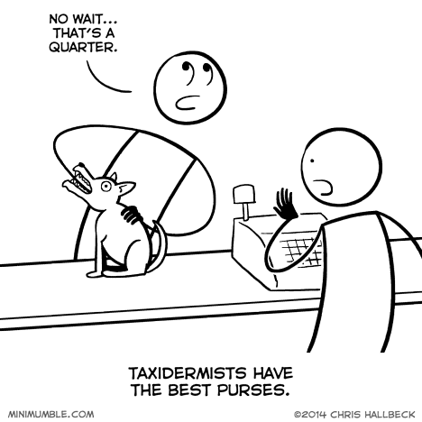 purses taxidermy quarters web comics - 8143743744