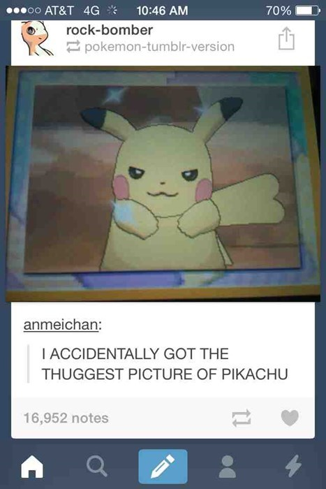 tumblr thugs pikachu