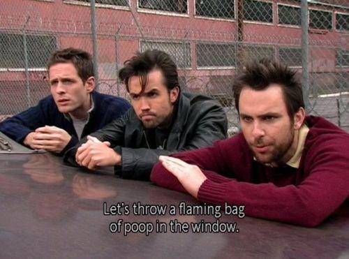 poop,its always sunny in philadelphia,pranks