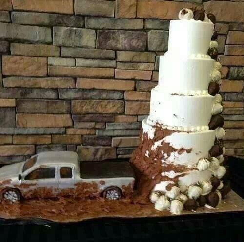 rednecks,weddings,trucks,wedding cakes