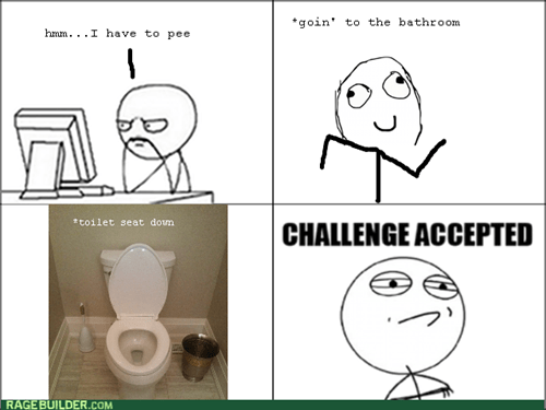Challenge Accepted,toilet