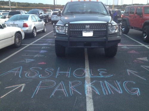 cars,douchebag parkers,parking,trucks