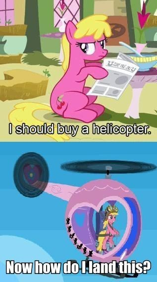 background pony,helicopter