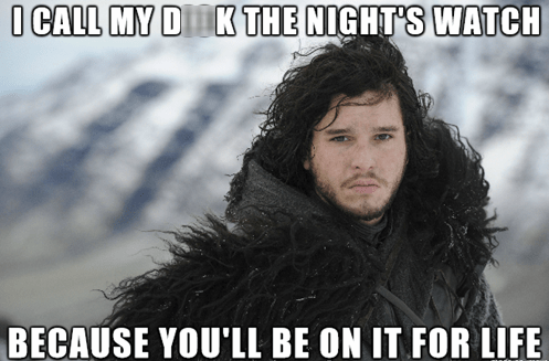 Game of Thrones Jon Snow that sounds naughty - 8144863232