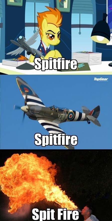 the wonderbolts,spitfire,know the difference