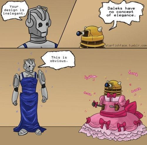 daleks,cyberman,web comics