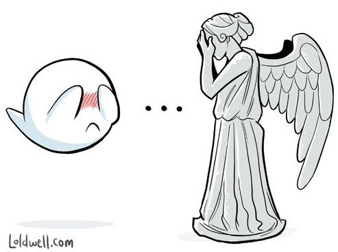 boo,weeping angels
