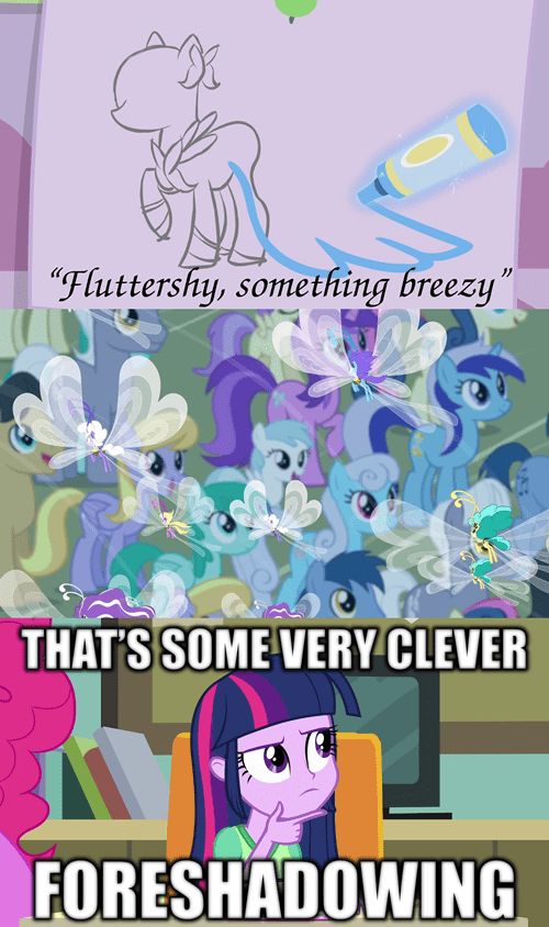foreshadowing,breezies,fluttershy