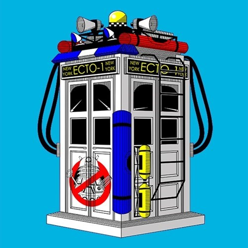 tshirts tardis Ghostbusters doctor who - 8145888768