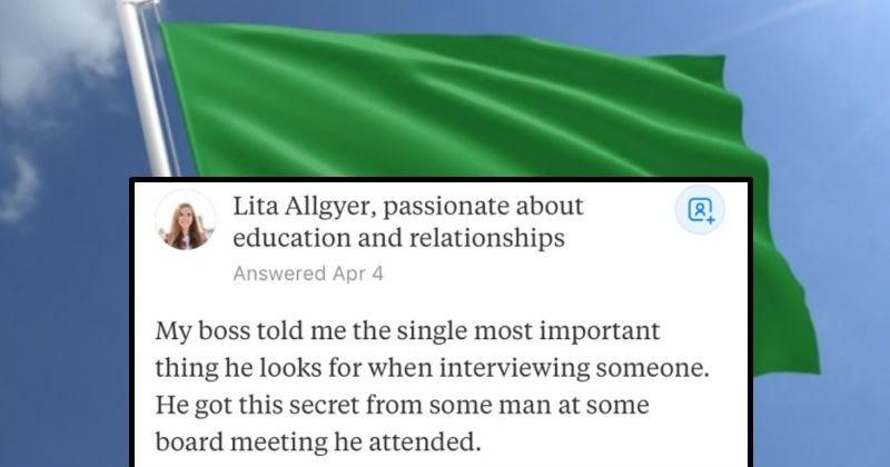 job interview life hack