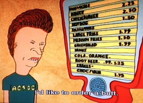 beavis and butthead butts fast food - 8146667776