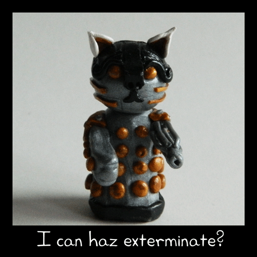 cat dalek Exterminate i can has