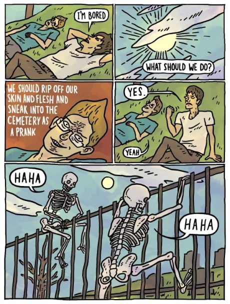 wtf skeletons pranks web comics - 8147217664