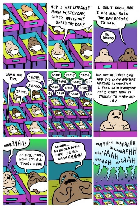 Babies realization newborns web comics - 8147234560