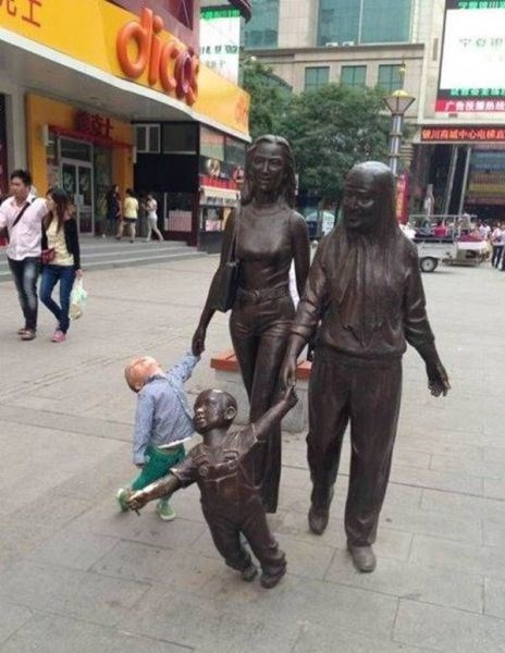copycat kids statue parenting - 8147430912