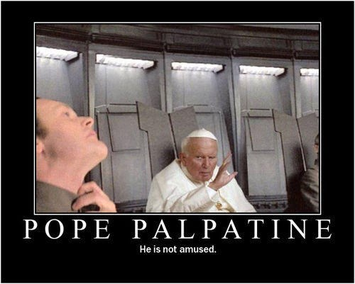 star wars pope funny Emperor Palpatine - 8147455232