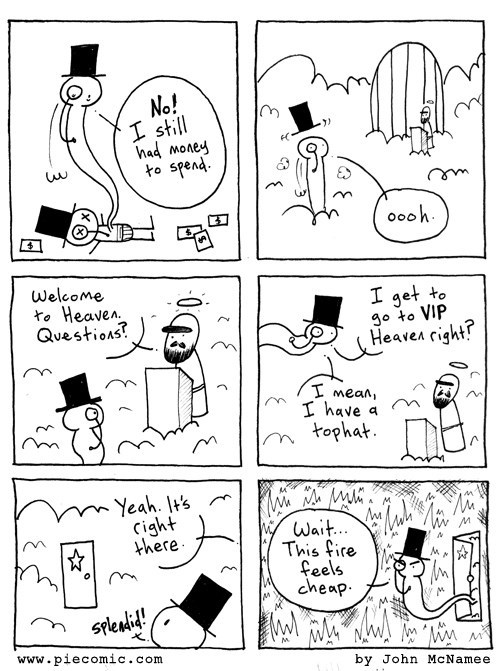 heaven hell rich people web comics - 8147481088