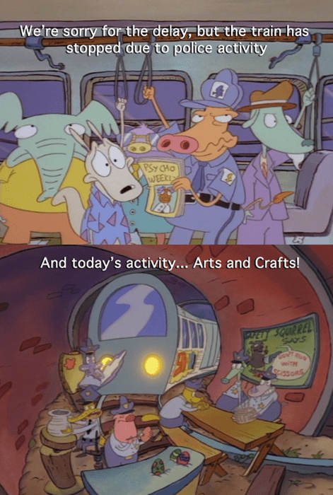 cartoons,courage the cowardly dog,police