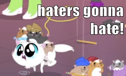 equestria girls,hamsters,haters