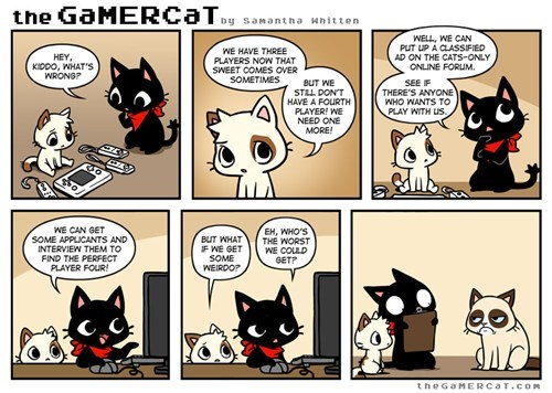 gamers Videogames grump cat Cats web comics