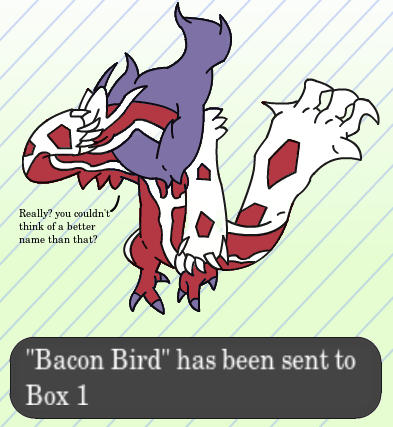 Pokémon shinies yveltal bacon bird - 8147752192