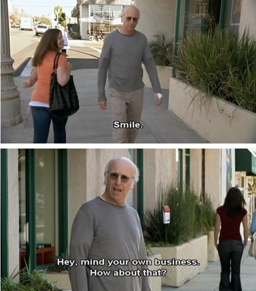 smiling Curb Your Enthusiasm funny - 8147902976