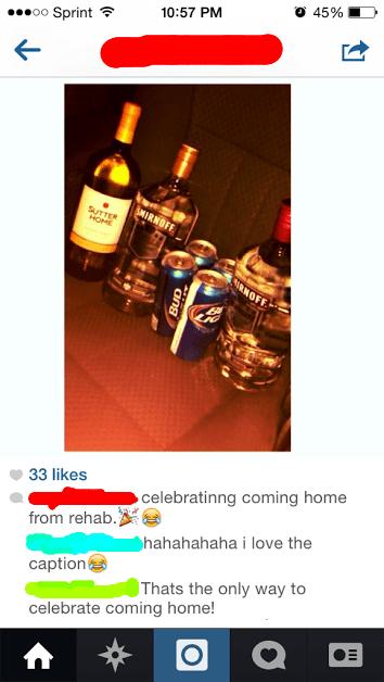 drinking alcohol rehab irony - 8147954176