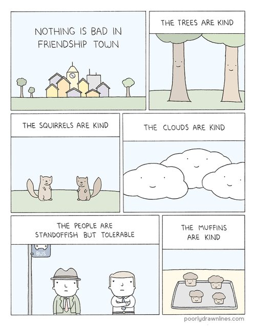 friendship,towns,food,web comics