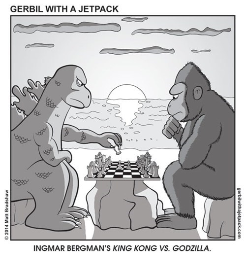 want,godzilla,movies,king kong,ingmar bergman,web comics