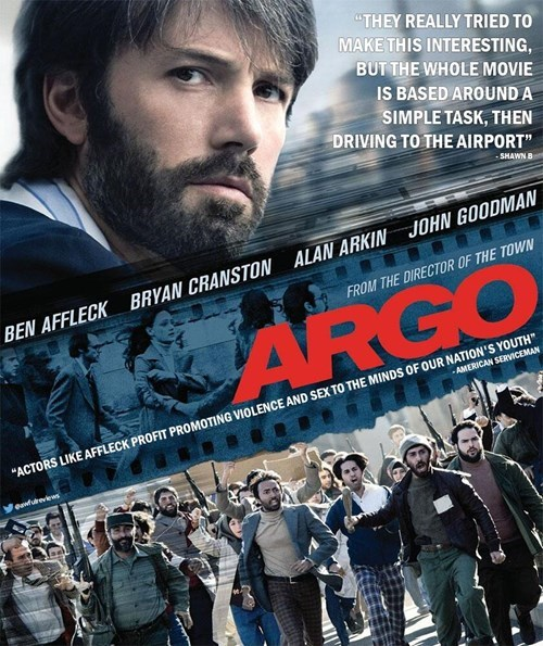 """Movie - """"THEY REALLY TRIED TO MAKE THIS INTERESTING, BUT THE WHOLE MOVIE IS BASED AROUND A SIMPLE TASK, THEN DRIVING TO THE AIRPORT"""" -SHAWN B JOHN GOODMAN ALAN ARKIN BRYAN CRANSTON FROM THE DIRECTOR OF THE TOWN BEN AFFLECK AMERICAN SERVICEMAN """"ACTORS LIKE AFFLECK PROFIT PROMOTING VIOLENCE AND SEX TO THE MINDS OF OUR NATION'S YOUTH Medureviews"""