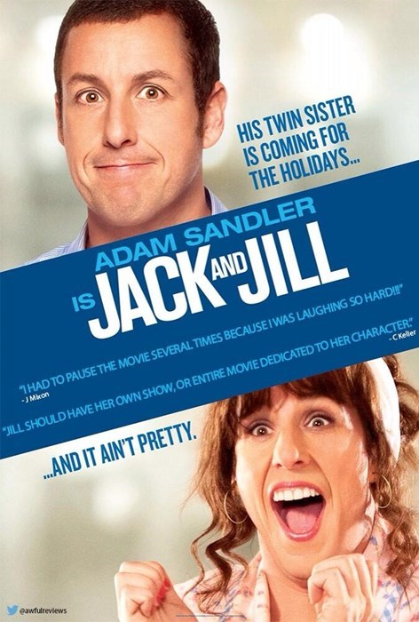 """Facial expression - HIS TWIN SISTER IS COMING FOR THE HOLIDAYS... ADAM SANDLER JACK AHJILL HAD TO PAUSE THE MOVIE SEVERAL TIMES BECAUSE I WAS LAUGHING SO HARD!!"""" -J Mixon ILL SHOULD HAVE HER OWN SHOW, OR ENTIRE MOVIE DEDICATED TO HER CHARACTER -C Keller ..AND IT AIN'T PRETTY eawfulreviews"""