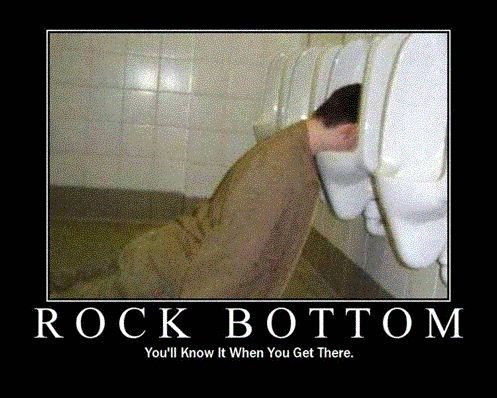 cake,urinal,funny,rock bottom