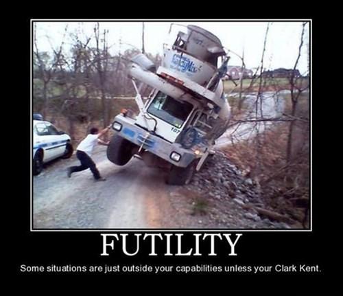 Clark Kent bad idea futile funny - 8148923648