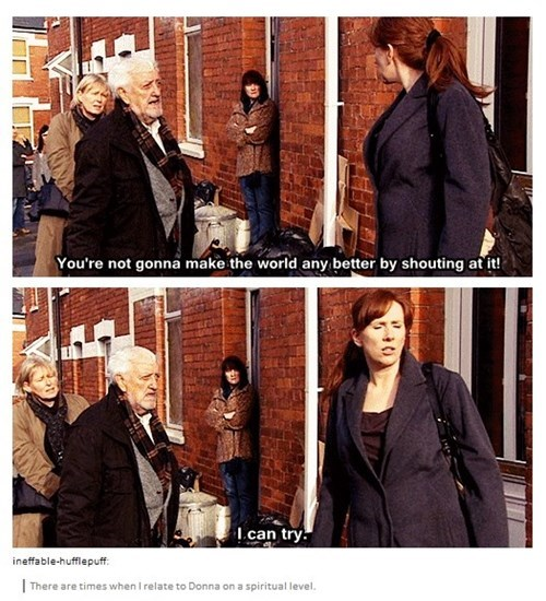 shouting,companion,donna noble