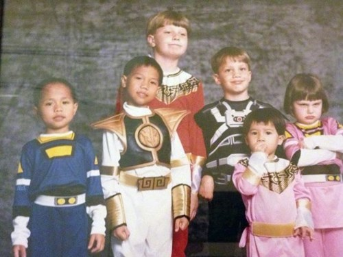 power rangers costume kids family photo parenting