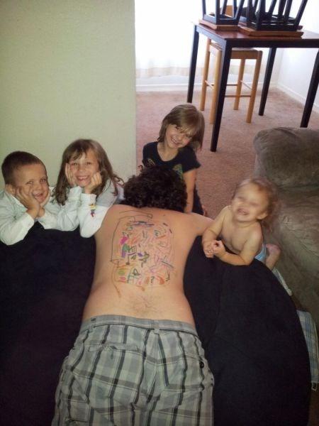 art kids parenting dad sleeping - 8149234432
