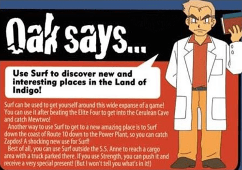 tips professor oak - 8149282304