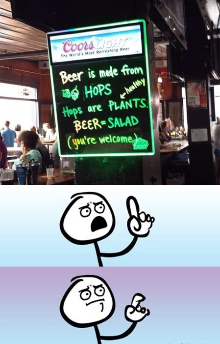 beer,sign,hops,funny,salad,after 12,g rated