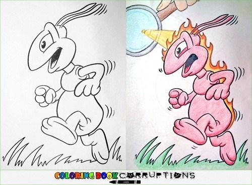 Cartoon - Mat an COLGRING BOOKCRRUTIONS