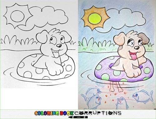 Cartoon - YUMN- COLORING B0OKCERRUPTIONS