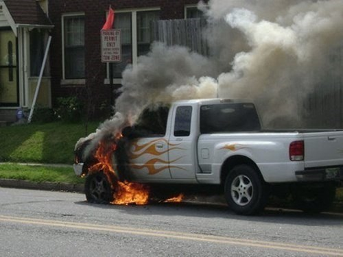 fire cars truck irony paint job fail nation g rated