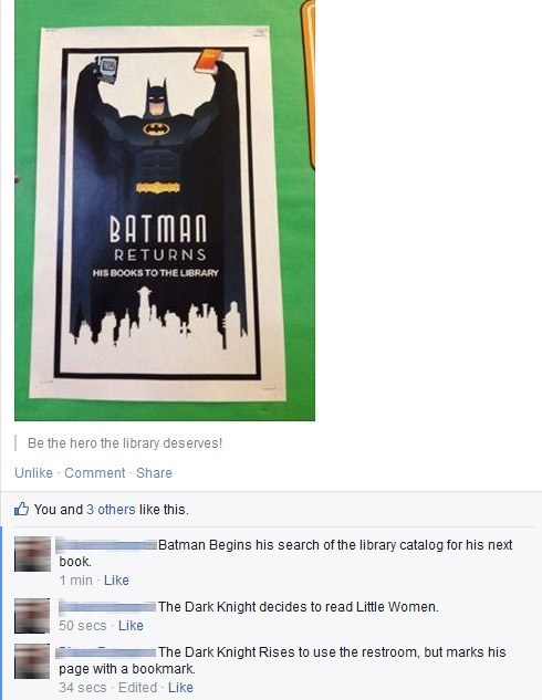 reading is sexy puns library batman failbook g rated
