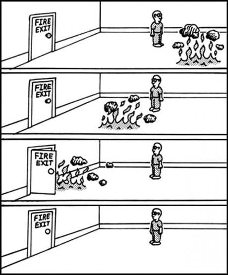 fire puns fire exit web comics - 8150699776