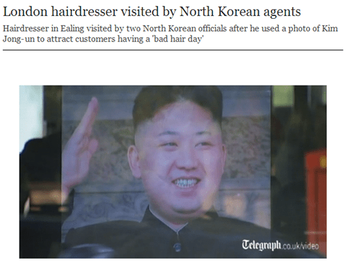 kim jong-un news haircut North Korea