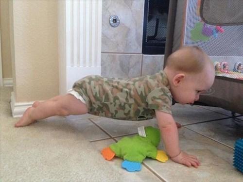 baby push ups parenting camouflage - 8150839552