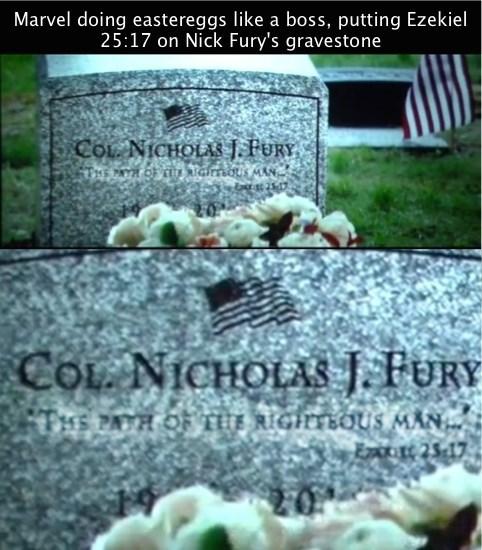 captain america pulp fiction Nick Fury - 8150914304