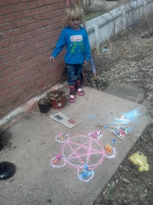 MLP fullmetal alchemist kids pentagram - 8150949376