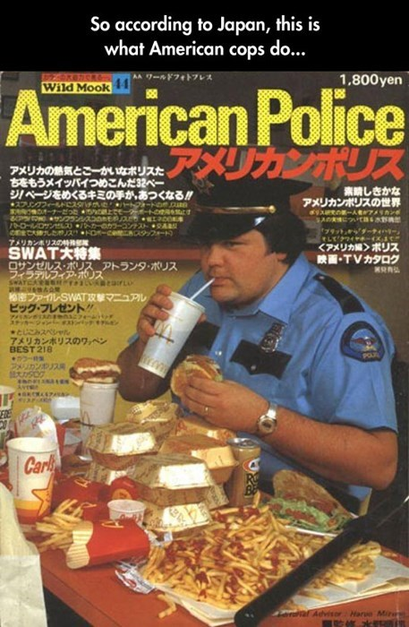 McDonald's,magazines,Japan,obesity,fast food,police