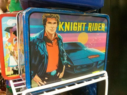knight rider,retro,lunchbox,funny